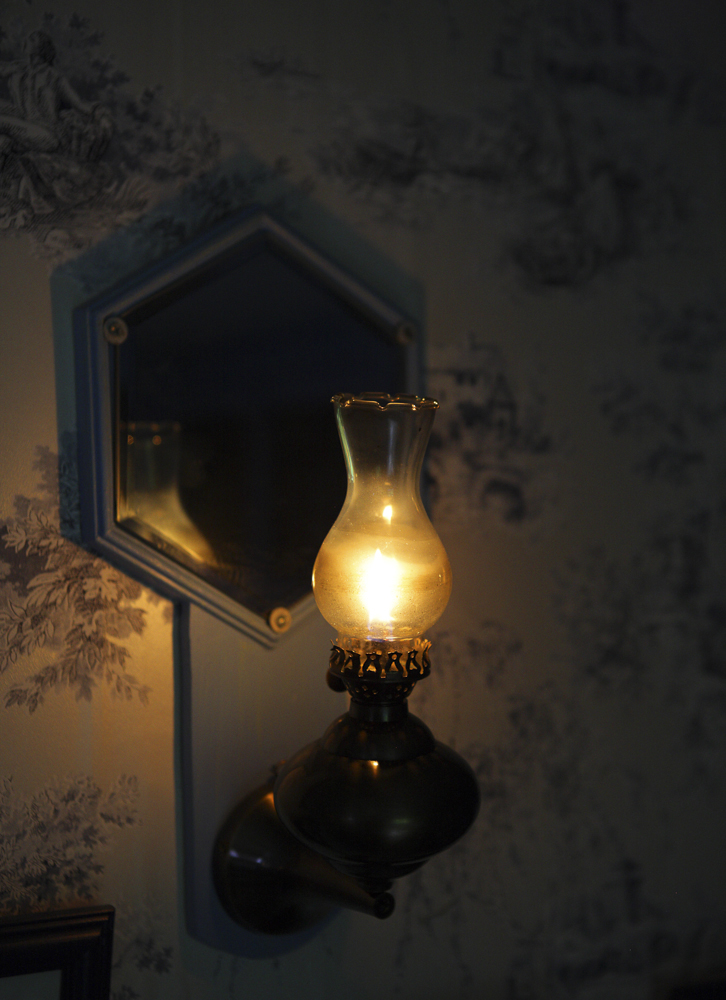 Photo of a traditional gas lamp