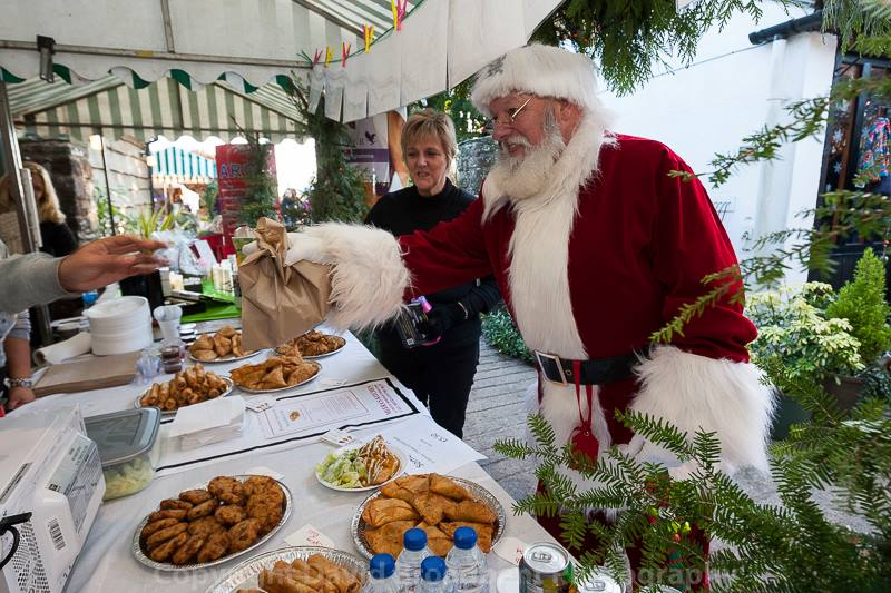 Father Christmas getting in on the action at Taurus Crafts