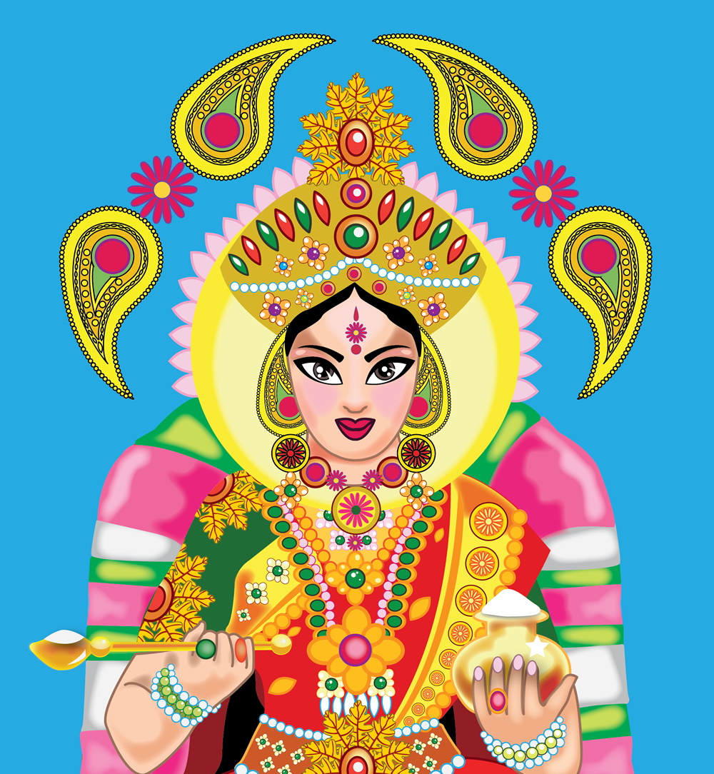 Picture of Annapurna the Hindu Goddess of Food and Kitchens
