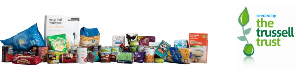 Picture of the Trussell Trust logo and some food.