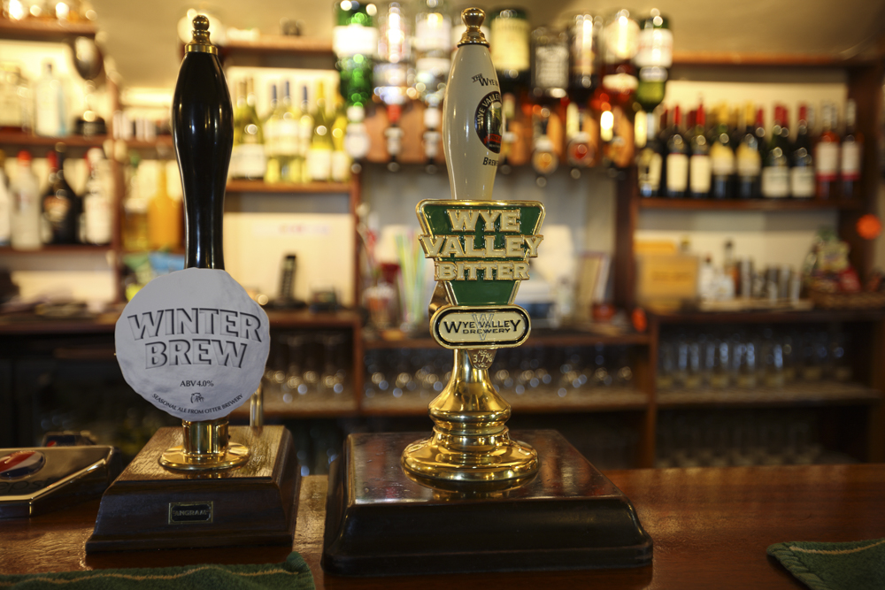Grab some fab local ale at the bar...