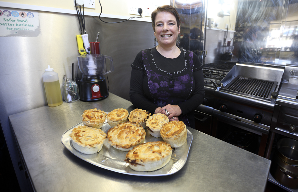 Maria is proud of her pies - and rightly so. We can all agree that they are outstanding!