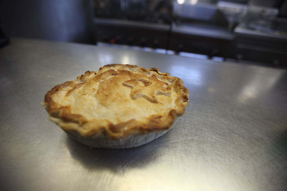 She even adorns her pies with pastry decorations! They're made with love.