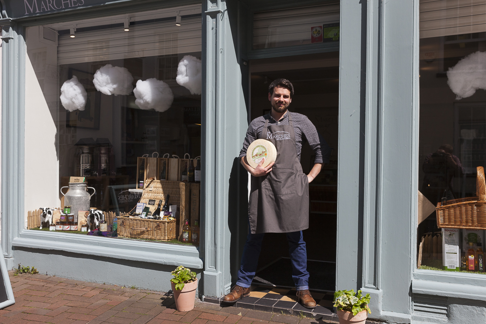 Tom Lewis, Marches Deli, Abergavenney, cheese,