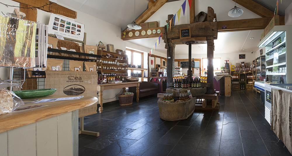 The shop at Harts Barn Cookery School